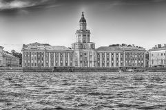 Facade of the Kunstkamera Museum, St. Petersburg, Russia Royalty Free Stock Images