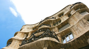 Facade of La Pedrera by Antonio Gaudi Royalty Free Stock Photography