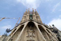 Facade of La Sagrada Familia Stock Image