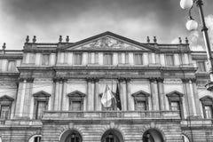 Facade of La Scala opera house in Milan, Italy Stock Photography
