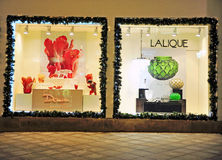 Facade of Lalique flagship store in Moscow Stock Image