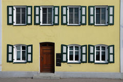 Facade in landshut, bavaria Royalty Free Stock Photos
