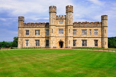 Facade of Leeds Castle. The Facade of Leeds Castle in Kent, England stock photography