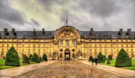 Facade of Les Invalides in Paris Stock Image