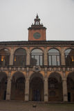 Facade of the library building, Old University of Bologna. Emilia Romagna, Italy. Stock Photography