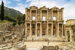 Historic archaeological site of Ephesus in Turkey. Stock Images