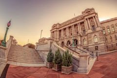 Facade of the Library of Congress Thomas Jefferson Building stock images