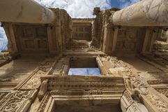The facade of the Library in Ephesus Royalty Free Stock Photos
