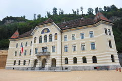 Facade of Liechtenstein Government and Parliament Building Royalty Free Stock Photos