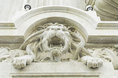 Facade with Lion Royalty Free Stock Image