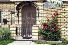 Facade of a little house Stock Image