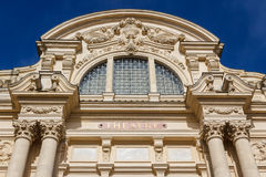 Facade of the local theater in Fougeres Royalty Free Stock Images