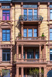 Facade of loft apartments in old classicistiy houses in Wiesbade Stock Images