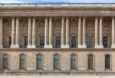 Facade of the Louvre. The Eastern facade of the Louvre, Paris, France stock photo