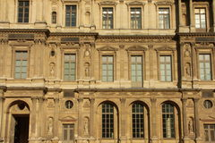Facade of the Louvre museum 2. Paris royalty free stock photos