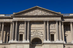 Facade of the Louvre museum, Paris Stock Images