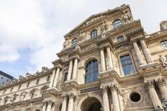 Facade of The Louvre museum, Pavillon Richeleu Royalty Free Stock Image