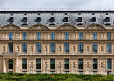 Facade of the Louvre. The Northern facade of the Louvre, Paris, France stock photography