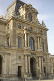 Facade of the Louvre in Paris Royalty Free Stock Photo