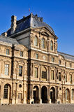 Facade of the Louvre, Paris royalty free stock image