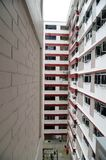 Facade of a low cost housing multistorey building Stock Images