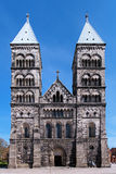 Facade of the Lund Cathedral, Sweden Royalty Free Stock Photo