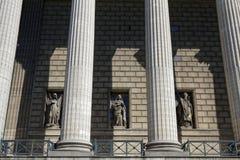 Facade of Madeleine Church Stock Photo