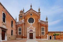 Madonna dell`Orto church in Venice, Italy stock images