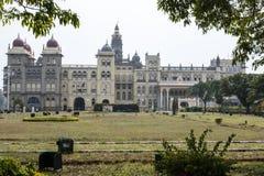 Facade of Maharaja's Palace in Mysore, Karnataka India Royalty Free Stock Photo