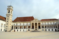 Facade of the main building of the Coimbra Royalty Free Stock Images
