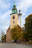 Facade Marienkirche (St. Mary Church) in Berlin Royalty Free Stock Images