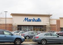 Facade, Marshalls store front. Philadelphia, Pennsylvania, April 2 2018: Facade  Marshalls store front Royalty Free Stock Photos