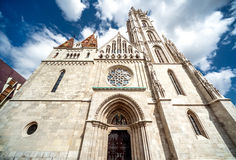 Facade of Matthias Church Royalty Free Stock Image
