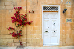Facade in Mdina Stock Image