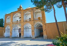 The facade of Bethlehem church in Isfahan, Iran. The facade of medieval Bethlehem Church, located in New Julfa Armenian neighborhood, building is decorated with Royalty Free Stock Image
