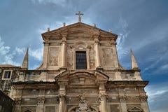 Facade of a medieval church Royalty Free Stock Photo
