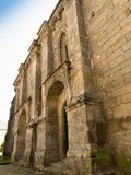 Facade of medieval Convent of Santa Clara in Pontevedra. Facade of romanesque and medieval Convent of Santa Clara in Pontevedra Stock Photography