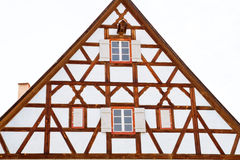 Facade of medieval house in Dinkelsbuehl Royalty Free Stock Photography