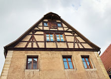 Facade of medieval house,  Rothenburg ob der Tauber, Germany Royalty Free Stock Image
