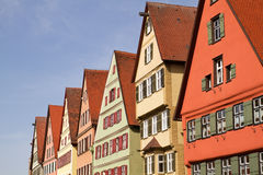 Facade of medieval houses Stock Photo