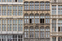 Facade medieval houses at Grote Markt square in Antwerp, Belgium Stock Photos
