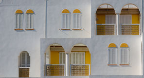 Facade Mediterranean house Stock Photos