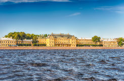 Facade of the Menshikov Palace, St. Petersburg, Russia Stock Image