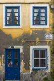 Facade in Merchants street (Rua dos Mercadores) in Aveiro Royalty Free Stock Photography
