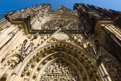Facade of the Metropolitan Cathedral of Saints Vitus Stock Photo