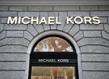 Facade of Michael Kors flagship store Stock Image