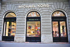 Facade of Michael Kors flagship store in the street Stock Image