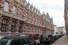 Facade - Michelet primary school -  Lille - France Royalty Free Stock Images