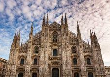 Facade of Milan Cathedral (Duomo di Milan) in the Morning Royalty Free Stock Photo