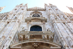 Facade of the Milan Cathedral, Italy Stock Photos